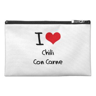 I love Chili Con Carne Travel Accessory Bag