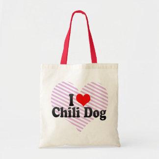 I Love Chili Dog Budget Tote Bag