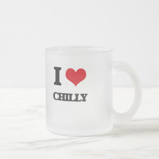 I love Chilly Frosted Glass Coffee Mug
