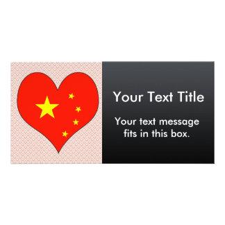 I Love China Photo Greeting Card