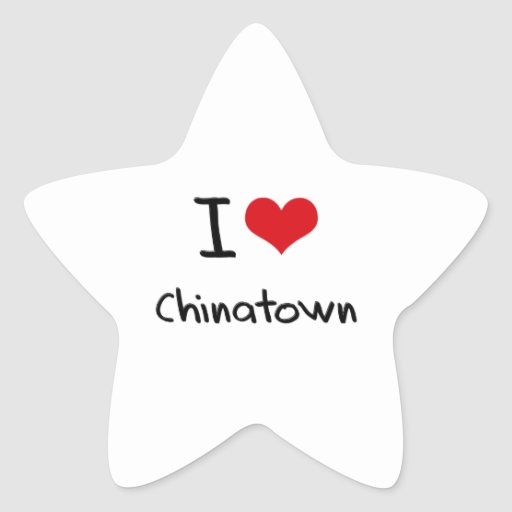 I love Chinatown Stickers