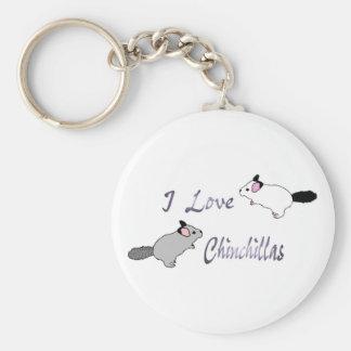 I love chinchillas key chain