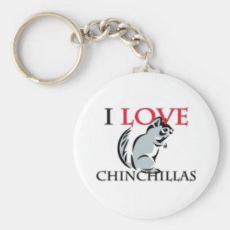 I Love Chinchillas Keychain