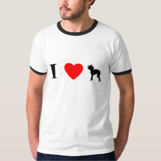 I Love Chinese Cresteds Ringer T-Shirt