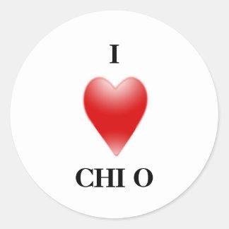 I LOVE CHIO CLASSIC ROUND STICKER