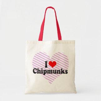 I Love Chipmunks Bag