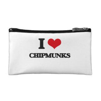I love Chipmunks Cosmetic Bag