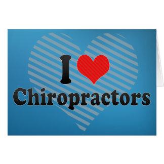 I Love Chiropractors Card