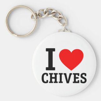I Love Chives Keychain