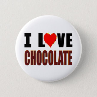 I Love Chocolate 2 Inch Round Button