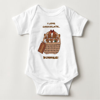I Love Chocolate Bunnies Baby Bodysuit