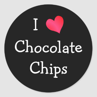 I Love Chocolate Chips Round Sticker