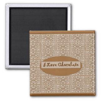 I Love Chocolate Classic Fridge Magnet