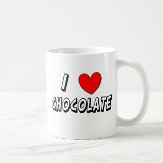 I Love Chocolate Coffee Mug