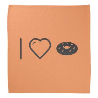 I Love Chocolate Doughnuts Bandana