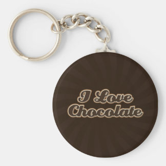 I Love Chocolate Keychain