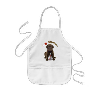 I love Chocolate Kisses Kids Apron