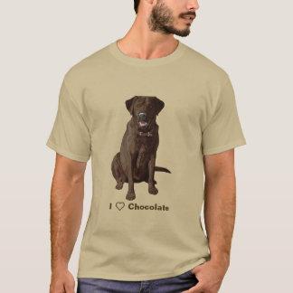 I Love Chocolate Labrador Retrievers T-Shirt