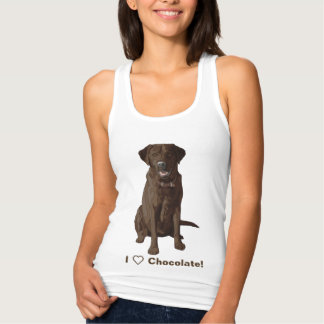 I Love Chocolate Labrador Retrievers Tank Top