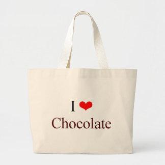 I love chocolate large tote bag