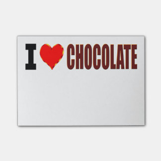 I Love Chocolate Post-it Notes