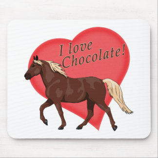I Love Chocolate Rocky Mountain Horse Mouse Pad