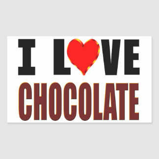 I Love Chocolate Sticker
