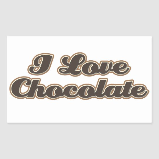 I Love Chocolate Stickers
