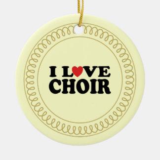 I Love Choir Musical Singing Ornament Gift