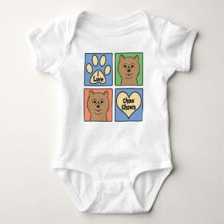 I Love Chow Chows Baby Bodysuit