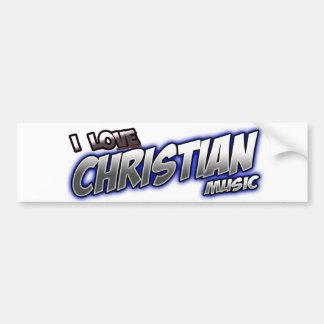 I Love CHRISTIAN music Car Bumper Sticker