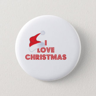 I Love Christmas 2 Inch Round Button