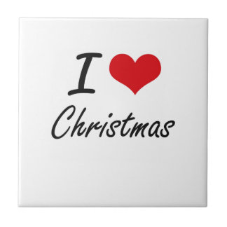 I love Christmas Artistic Design Ceramic Tiles