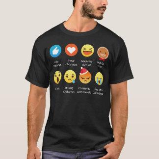 I Love Christmas Emoji Emoticon Graphic TEe Shirt