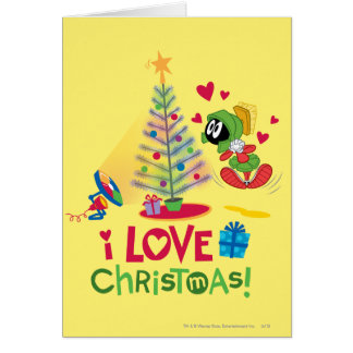 I Love Christmas - MARVIN THE MARTIAN™ Card