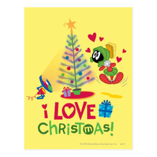 I Love Christmas - MARVIN THE MARTIAN™ Postcard