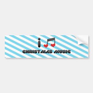 I Love Christmas Music Bumper Stickers
