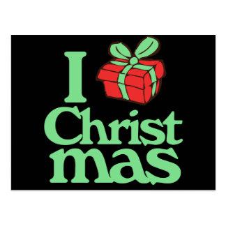 I love christmas postcard
