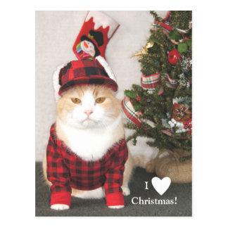 I Love Christmas! Postcard