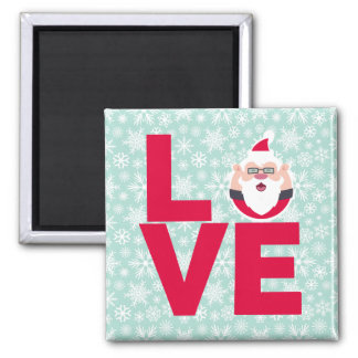 I Love Christmas Santa Snowflakes Magnet