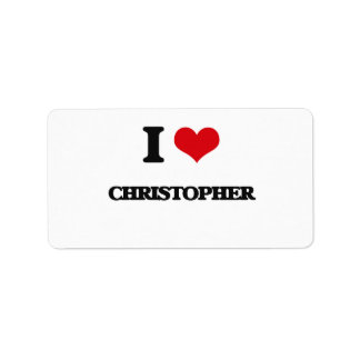 I Love Christopher Address Label