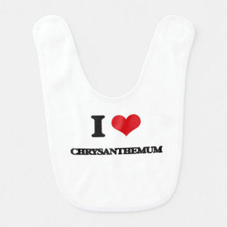 I Love Chrysanthemum Bib