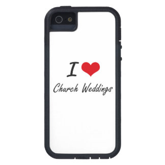 I love Church Weddings Artistic Design iPhone 5 Case