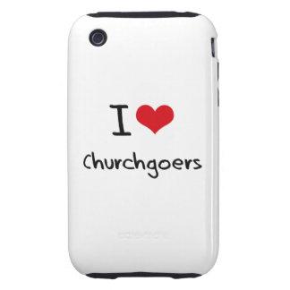 I love Churchgoers iPhone 3 Tough Cases