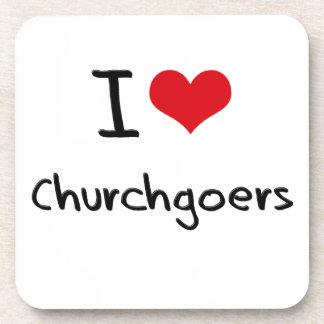 I love Churchgoers Drink Coaster