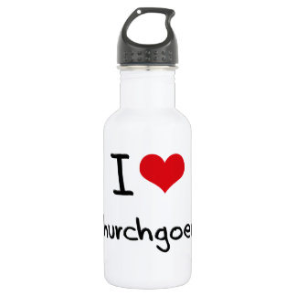 I love Churchgoers 18oz Water Bottle