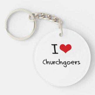 I love Churchgoers Single-Sided Round Acrylic Keychain