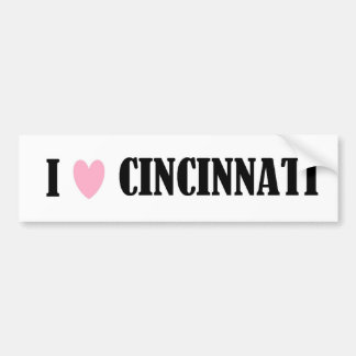 I Love Cincinnati Bumper Sticker