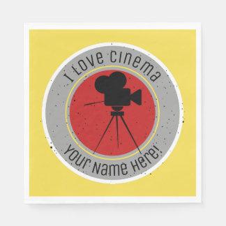 I love Cinema Disposable Napkin