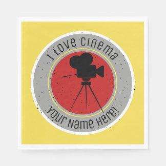 I love Cinema Napkin